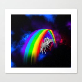 Unicorn & Rainbow Canvas Print