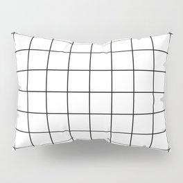 Grid Simple Line White Minimalistic Pillow Sham