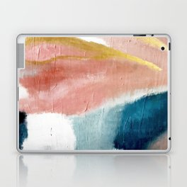 Exhale: a pretty, minimal, acrylic piece in pinks, blues, and gold Laptop & iPad Skin