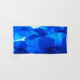 Blue Poppies #decor #society6 #buyart Hand & Bath Towel
