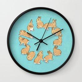 12 rabbits Wall Clock