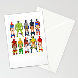 Superhero Butts Stationery Cards