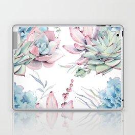 Pretty Pastel Succulents Garden 1 Laptop & iPad Skin