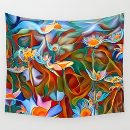 Psychedelic Daises Wall Tapestry