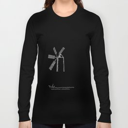 mill on white background Long Sleeve T-shirt
