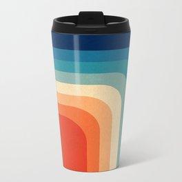Retro 70s Color Palette III Metal Travel Mug