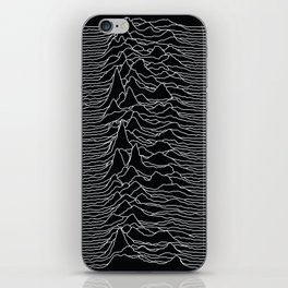 Unknown Radio Waves - Unknown Pleasures iPhone Skin