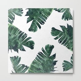 Banana Leaf Watercolor #society6 #buy #decor Metal Print