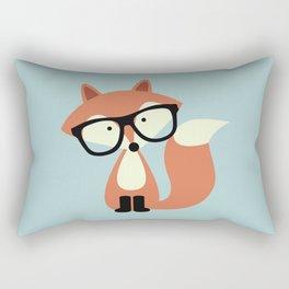 Hipster Red Fox Rectangular Pillow