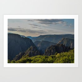 Black Canyon of the Gunnison National Park at Sunrise Art Print