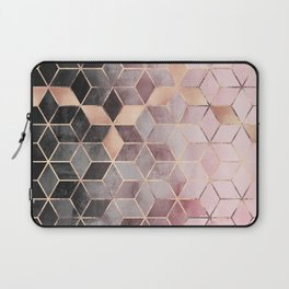 Pink And Grey Gradient Cubes Laptop Sleeve