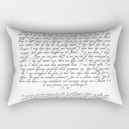 Wentworth's Letter Rectangular Pillow
