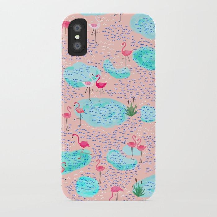 Flamingo lake-pink iPhone Case