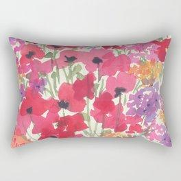 Big Red Poppy Patch Rectangular Pillow