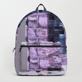 texture for interior decoration purple Backpack