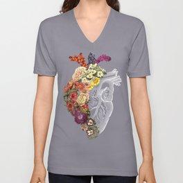 Flower Heart Spring Unisex V-Neck