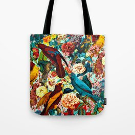 FLORAL AND BIRDS XV Tote Bag