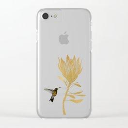 Hummingbird & Flower I Clear iPhone Case