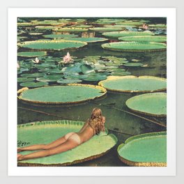 LILY POND LANE Art Print