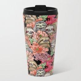 Because Sloths Metal Travel Mug