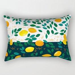Lemon Orange Rectangular Pillow