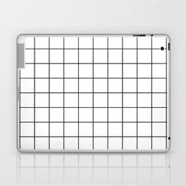 Grid Simple Line White Minimalistic Laptop & iPad Skin