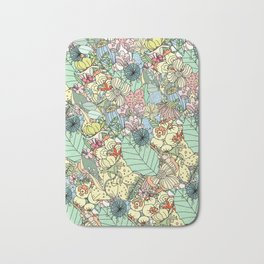 Muted In Bloom Bath Mat