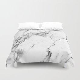 White Marble I Duvet Cover