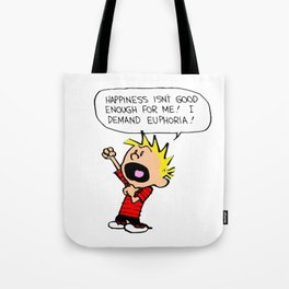 hobbes and calvin time advanture Tote Bag