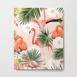 Flamingo Guava #society6 #decor #buyart Metal Print