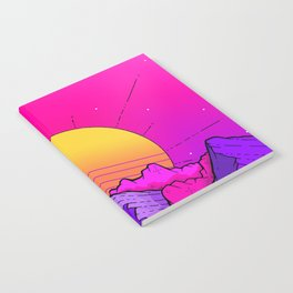Pink sky mountains Notebook