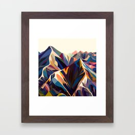 Mountains original Framed Art Print