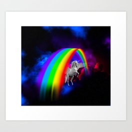 Unicorn & Rainbow Art Print