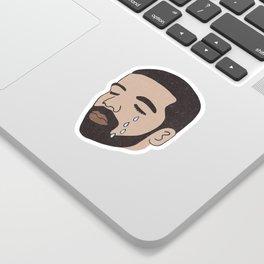drake crying Sticker