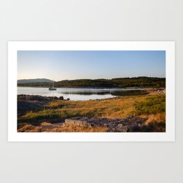 Boat in Norway Art Print