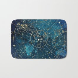 Star Map :: City Lights Bath Mat