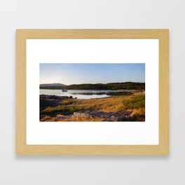 Boat in Norway Framed Art Print