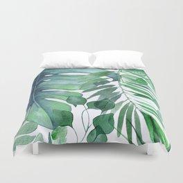 Tropical  Leaves Duvet Cover