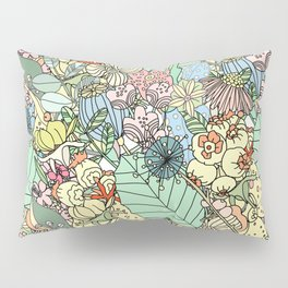 Muted In Bloom Pillow Sham