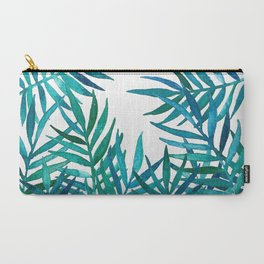 Watercolor Palm Leaves on Whit...