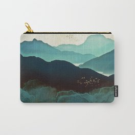Indigo Mountains Carry-All Pouch