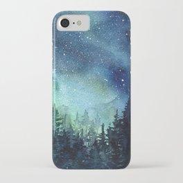 Galaxy Watercolor Space Night Sky Nebula Painting Aurora iPhone Case