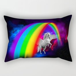 Unicorn & Rainbow Rectangular Pillow