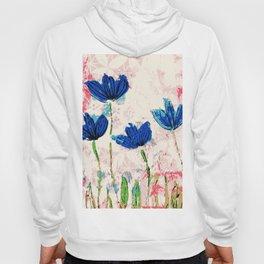 Wild flowers blue collage Hoody