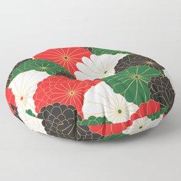 Japanese Chrysanthemum Floor Pillow