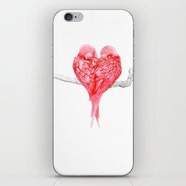 Red Heart Birds Love iPhone Skin