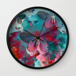 """""""Spring Butterfly love"""" Wall Clock"""
