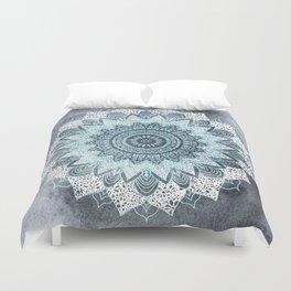 BOHOCHIC MANDALA IN BLUE Duvet Cover