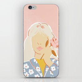 Girl and her Flower iPhone Skin