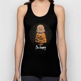 Be Happy Little Buddha Unisex Tank Top